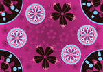 whimsical pink patterns 1 by madetobeunique
