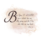 psalms 3:3 text stock png by madetobeunique