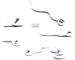 White 3d Stock Snake png by madetobeunique