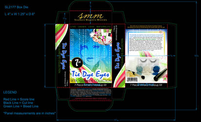 Tie Dye Eye - Makeup Kit Box Design by madetobeunique