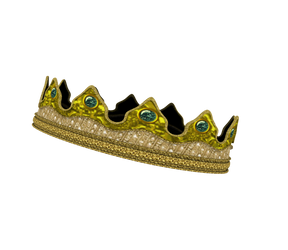 Kingdom Clothing #29 kings crown gold emerald 3d by madetobeunique