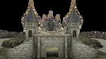 3d Fantasy Castle Stock Parts #4 front kingdom by madetobeunique