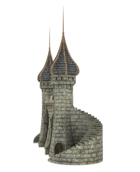 3d Fantasy Castle Stock Parts #8 pillar stairs by madetobeunique