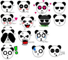 Panda Emotes by paintedhawk