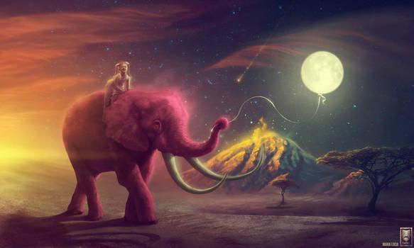 Elephant traveler / My pink elephant by HjalmarWahlin