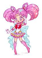 Sketchy Senshi - Super Sailor ChibiMoon by Keah