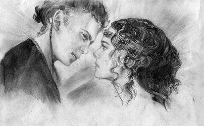 Anakin and Padme by resonans