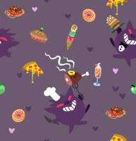 [free] gengar chef pattern by visiface