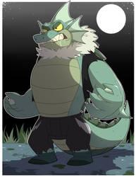 Lake monster gator returns by GlassesGator