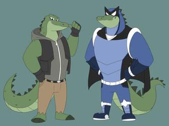 Victor-crocodile superhero by GlassesGator