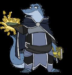Azuros the mage gator by GlassesGator