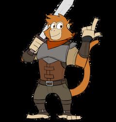 Andrew the mercenary monkey by GlassesGator