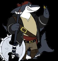 Morgan the pirate shark by GlassesGator