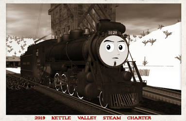 CPR #3120 2019 Kettle Valley Steam Charte by GreyhoundProductions
