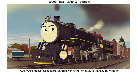 SOU #4514 Western Maryland Scenic Railroad 2012 by GreyhoundProductions