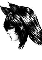 League of Legends - Ahri Ink by HecatiArtz