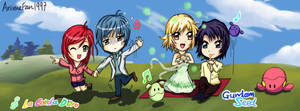 Chibi Len, Hino,Cagalli and Athrun by AnimeFan1997