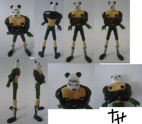 Comissioned: Pandaman by spikespiegelkitsune