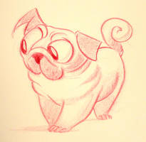 Pink Pug by Tibby-Kitty