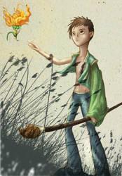 Little Boy Painter by Joevianart
