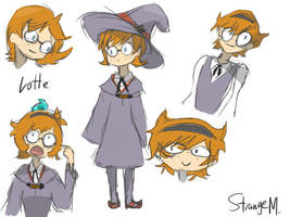 Lotte Yansson-Little witch academia Color by StrangeMila
