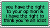 Right to an opinion by paramoreSUCKS