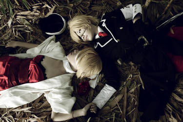 VOCALOID_sorrowful twin by Dan-Gyokuei