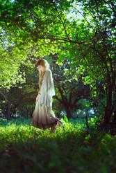 wandering in the forest by Dan-Gyokuei