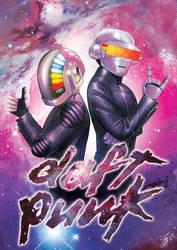 Daft Punk Poster by YelZamor