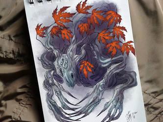Maple Treant sketch by YelZamor