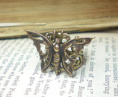 Steampunk Filigree Butterfly by ClassicKeepsakes