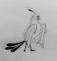 time and space birb by llamb-sauce