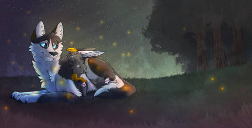 Early night cuddling by BlaideBlack