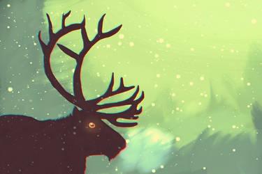 Reindeer by BlaideBlack