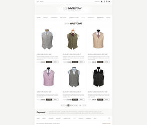 Website design for Savile Row by evidentart