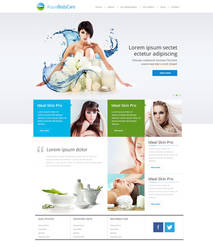 Website design for Aqua by evidentart