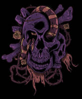 Mixed Skull by uberdiablo-pixels