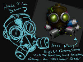 Making of 'The Mascot' by uberdiablo-pixels