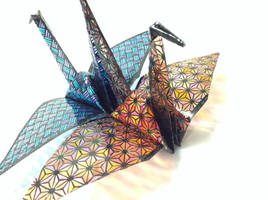 papercutting:orizuru by tuitati