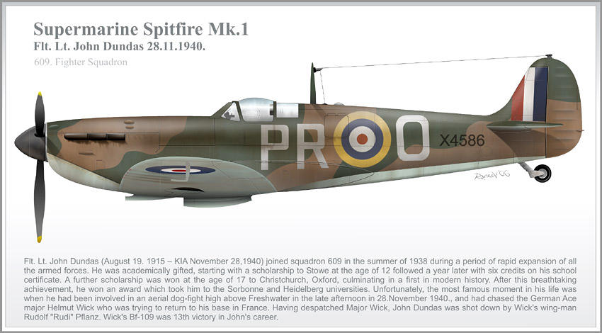Dundas Spitfire Mk.1 Profile by 0viking0