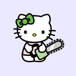 Hell Kitty 2 The chainsaw by trezetreze