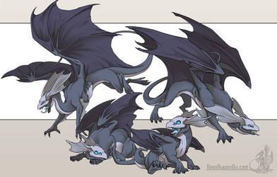 Mirror Dragons by neondragon