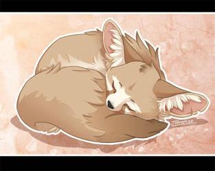 Sleepy Fox by neondragon