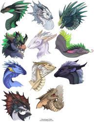 Dragon Heads 1 by neondragon