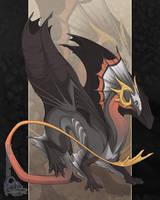Death's Head Dragon by neondragon