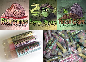 Zombie-Themed Lip Balm by neondragon