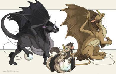 Pearlcatcher Dragons by neondragon