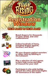 Flight Rising Registration Window - January 12-15 by neondragon