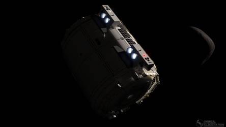 Space Pod Orbital Maneuver by Orbital-Illustration
