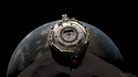Space Pod in orbit by Orbital-Illustration